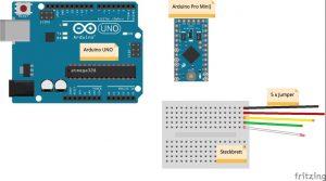 Arduino Pro Mini mit Arduino UNO programmieren