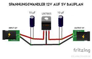 Spannungswandler 12V auf 5V selber bauen