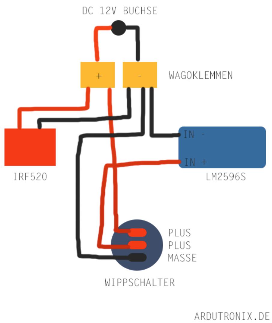 Automatische Bewässerung Anschlussplan