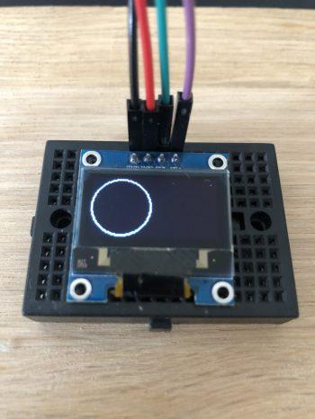 Arduino-I2C-Oled-0.96-Display-Kreis