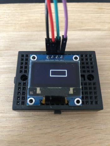 Arduino-I2C-Oled-0.96-Display-Rechteck