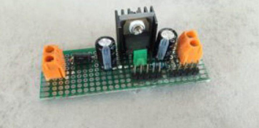 lm7805 modul selber bauen